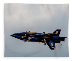 Blue Angels 5 And 6 As One Fleece Blanket
