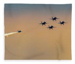 Blue Angels Pass Through Fleece Blanket