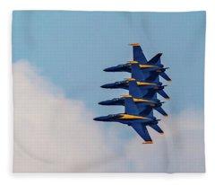 Blue Angels Stack Of 4 Fleece Blanket