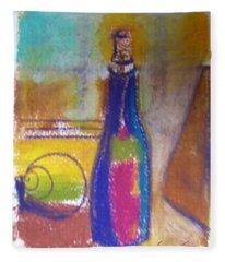 Blue Bottle Fleece Blanket