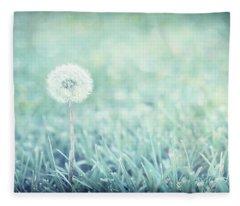 Blue Dandelion Fleece Blanket