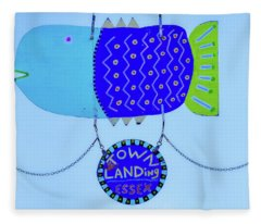 Blue Fish Art Fleece Blanket