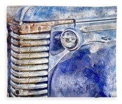 Blue Gmc Truck Fleece Blanket