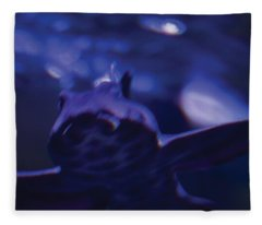 Blue Greeting Fleece Blanket