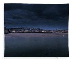 Blue Hour - St Ives Cornwall Fleece Blanket