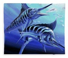 Blue Marlins Fleece Blanket