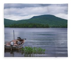 Blue Mountain Lake Fleece Blanket