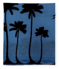 Blue - Night - Beach Fleece Blanket