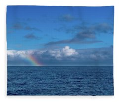 Blue Rainbow Horizon Fleece Blanket