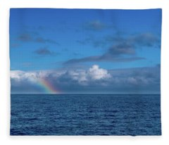 Blue Rainbow Horizon Fleece Blanket