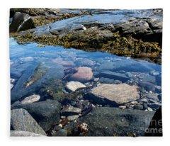 Blue Reflective Water Fleece Blanket