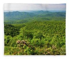 Blue Ridge Mountain Overlook Fleece Blanket