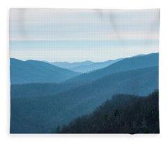 Blue Ridge Mountains Fleece Blanket