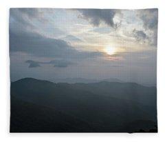 Blue Ridge Parkway Sunset Fleece Blanket