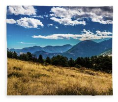 Blue Skies And Mountains Fleece Blanket