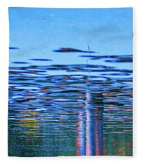 Blue Snake Fleece Blanket