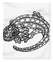 Blue Spotted Salamander Fleece Blanket