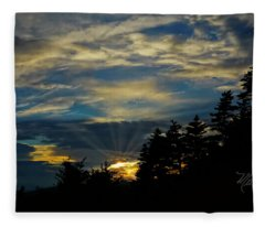 Blue Sunset Fleece Blanket