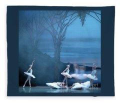 Blue Swans Fleece Blanket