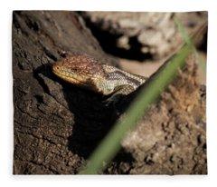 Blue Tongue Lizard Fleece Blanket
