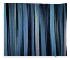 Blue Trees 1 Fleece Blanket