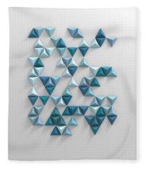 Blue Triangles Fleece Blanket