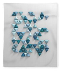 Triangles Fleece Blankets