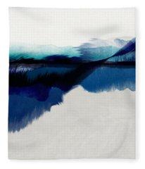Blue Vista- Art By Linda Woods Fleece Blanket
