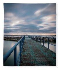 Blue Walk Fleece Blanket