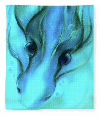 Blue Water Dragon Fleece Blanket