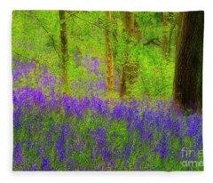 Bluebell Art Fleece Blanket
