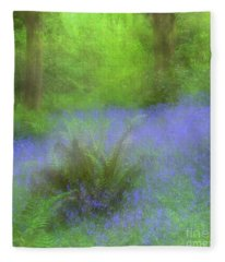 Bluebell Impression Fleece Blanket