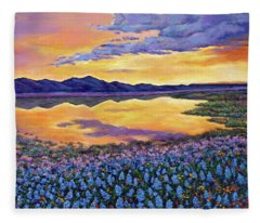 Bluebonnet Rhapsody Fleece Blanket