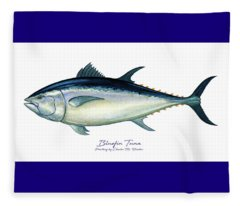 Bluefin Tuna Fleece Blanket