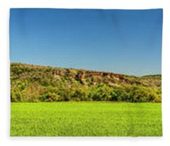 Bluffs At Sandy Creek Panorama 2016 Fleece Blanket