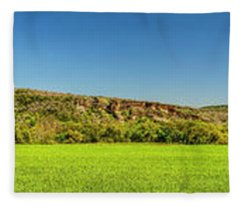 Bluffs At Sandy Creek Panorama 2016 Fleece Blanket