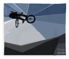 Bmx Biking  Fleece Blanket