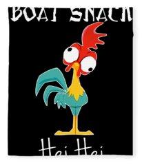 Boat Snack Hei Hei Animals Cute Chicken Fleece Blanket