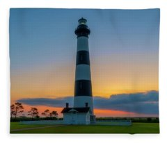 Bodie Island Lighthouse, Hatteras, Outer Bank Fleece Blanket