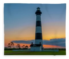Bodie Island Lighthouse, Hatteras, Outer Bank Fleece Blanket