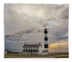 Bodie Island Lighthouse No. 2 Fleece Blanket