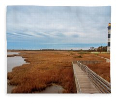 Bodie Island Lighthouse No. 3 Fleece Blanket