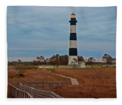 Bodie Island Lighthouse No. 4 Fleece Blanket