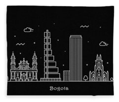 Bogota Skyline Travel Poster Fleece Blanket