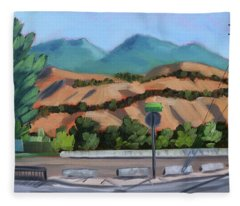 Boise Foothills Fleece Blanket