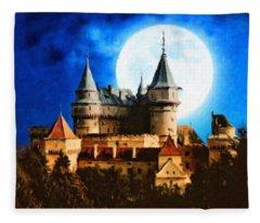 Bojnice Castle Fleece Blanket