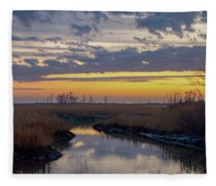 Bombay Hook Dawn's Early Light Fleece Blanket
