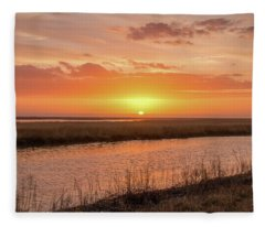 Bombay Hook Sunrise Fleece Blanket