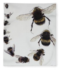 Bombus Fleece Blanket