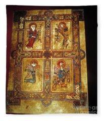 Book Of Kells Fleece Blanket
